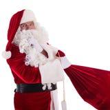 Santa Claus with big bag Royalty Free Stock Photography