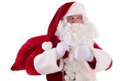 Santa Claus with big bag Royalty Free Stock Images