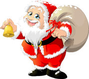 Santa claus. With a big bag on a white background vector illustration