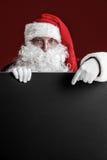 Santa Claus with big blank card Royalty Free Stock Photos