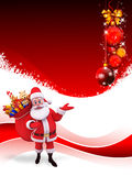 Santa claus with big gift bag Stock Photo