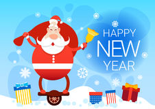 Santa Claus With Big Present Sack Ride Electric Mono Wheel Christmas Holiday Happy New Year Greeting Card Royalty Free Stock Photo