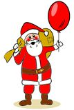 Santa Claus with big red balloon Royalty Free Stock Photos