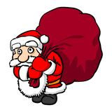 Santa Claus with big sack Stock Image