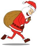 Santa Claus & big Sack Royalty Free Stock Photo