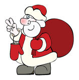 Santa Claus with a big sack of Christmas gifts Royalty Free Stock Photo