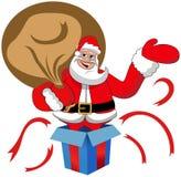 Santa Claus Big Sack Gift Box Xmas  Stock Image