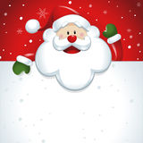 Santa Claus with big white sign in red Stock Images