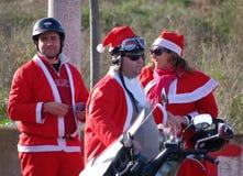 Santa claus bike parade 2011 Stock Photo