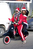 Santa claus bike parade 2011 Royalty Free Stock Photos