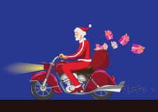 Santa claus on bike Royalty Free Stock Photo