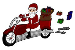 Santa Claus biker Stock Photo