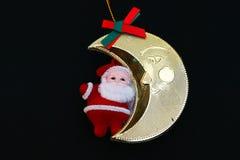 Santa Claus bild på svart bakgrund Royaltyfria Bilder