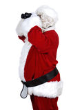 Santa claus with binoculars Royalty Free Stock Photo