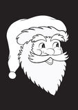 Santa Claus in black Stock Photos