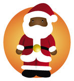 Santa Claus black Royalty Free Stock Images
