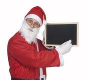 Santa claus and blackboard royalty free stock photos