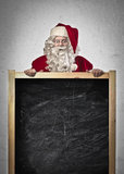 Santa Claus Blackboard Royalty Free Stock Photography