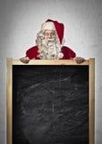 Santa Claus Blackboard royalty free stock photography