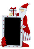 Santa Claus with blackboard Royalty Free Stock Photo