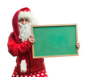 Santa Claus with a blackboard Royalty Free Stock Image
