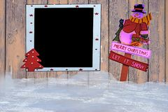 Santa Claus with blackboard Royalty Free Stock Images