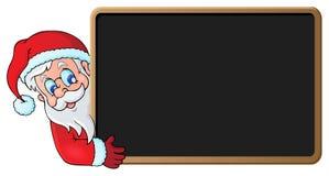Santa Claus with blackboard theme 1. Eps10 vector illustration Royalty Free Stock Image