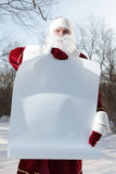 Santa Claus with blank banner Stock Image