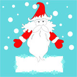 Santa Claus with a blank banner Stock Images