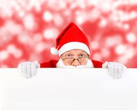 Santa Claus with Blank Board Royalty Free Stock Images