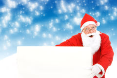 Santa Claus with Blank Board Royalty Free Stock Image