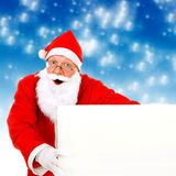 Santa Claus with Blank Board Stock Photography