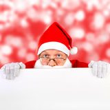 Santa Claus with Blank Board Royalty Free Stock Photography
