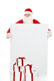 Santa Claus with blank notice board Royalty Free Stock Photo