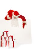 Santa Claus with blank notice board Stock Photography