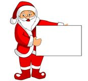 Santa Claus with blank paper royalty free stock photo