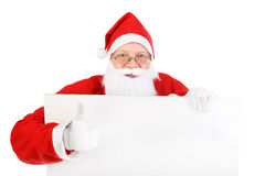 Santa claus with blank paper Stock Photos