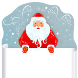 Santa Claus with blank paper. Stock Photos