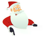 Santa Claus Blank Sign Stock Photo