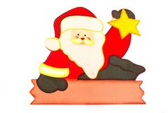 Santa Claus with blank sign Royalty Free Stock Image