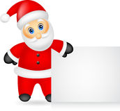 Santa claus with blank sign Royalty Free Stock Photos