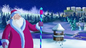 Santa Claus Blowing Cold Wind vector illustratie