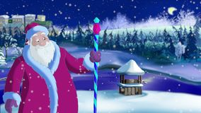 Santa Claus Blowing Snow vector illustratie