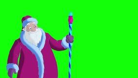 Santa Claus Blowing Snow en la pantalla verde libre illustration