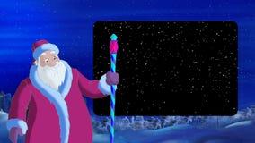 Santa Claus Blowing Wind con Alpha Channel Frame ilustración del vector