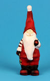 Santa Claus on a blue background Royalty Free Stock Images