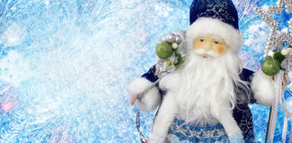 Santa Claus. On a blue background Royalty Free Stock Photos