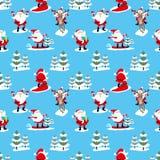 Santa Claus on a blue background. Stock Photos