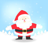 Santa Claus on blue background vector illustration for Christmas Royalty Free Stock Photography