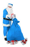Santa claus in blue costume Royalty Free Stock Photo